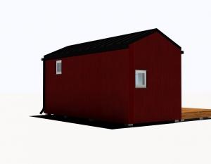 15M2 Ar Gultu, Virtuvi Un Dušu. Divslīpu Sarkana 4